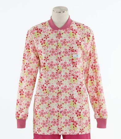 Scrub Med discount print scrub jacket daisy chain