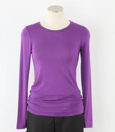 WonderWink Womens Long Sleeve Tee Electric Violet
