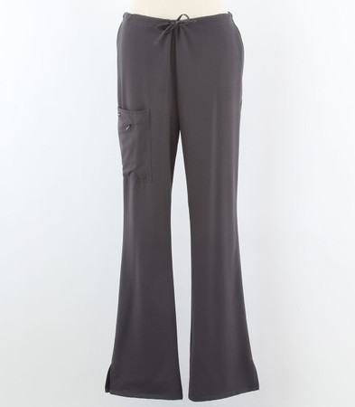 Jockey Womens Charcoal Tall Scrub Pants with Half Elastic, Half Drawstring