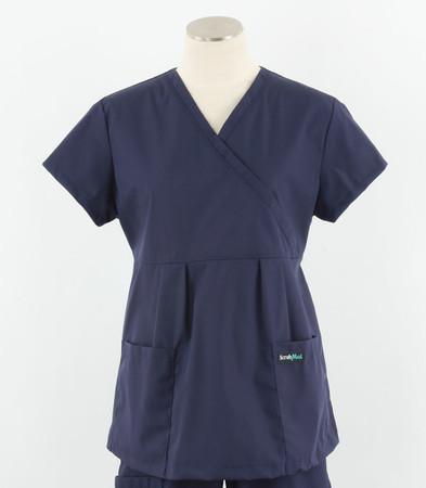 Scrub Med womens Navy maternity scrub top
