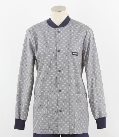 Scrub Med womens print lab jacket polka dots