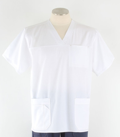 Carhartt Mens Scrub Top with Pockets White