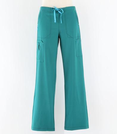 Carhartt Womens Petite Cross Flex Boot Cut Scrub Pants Hunter