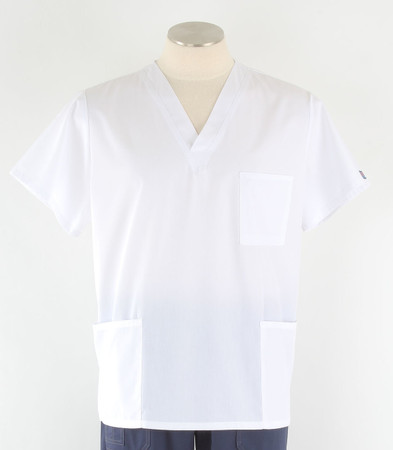 Cherokee Workwear Originals Unisex Scrub Top White