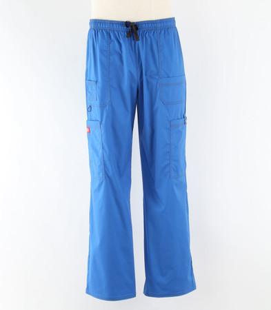 dickies gen flex mens cargo scrub pants royal
