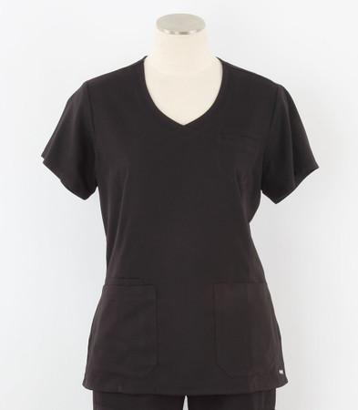 greys anatomy style 41423 womens black v-neck scrub top