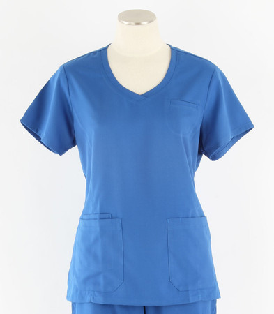greys anatomy style 41423 womens royal v-neck scrub top