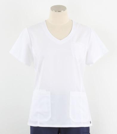 greys anatomy style 41460 womens white v-neck scrub top