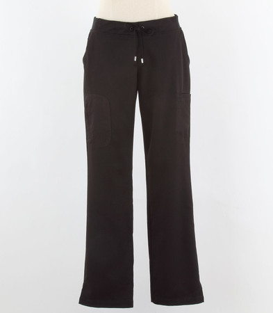 Greys Anatomy style 4277P Womens petite Black Scrub Pants