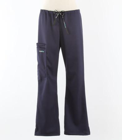 scrub med womens stretch flare leg scrub pants indigo