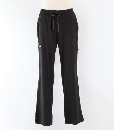 Koi basics Womens petite Black Scrub Pants Holly Cut