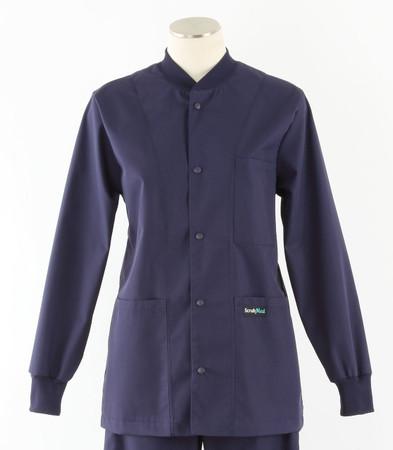 Scrub Med solid navy crew neck lab jacket