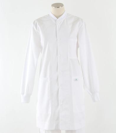 scrub med womens white crew neck lab coat