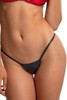 Shop these black twinkle thong bikini bottoms with v style back