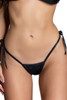 Shop this women's black twinkle micro bikini bottoms that feature tie side string bikini bottoms in a sexy thong bikini style