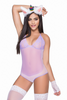 Shop this women's lavender purple mesh bodysuit with unicorn headpiece and gloves