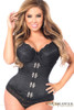 Shop this plus size underbust corset with metal clasps