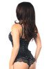 Shop this steel boned underbust corset in solid black