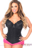 Shop this plus size underbust corset in solid black