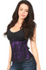 Shop this underbust corset with purple lining and lace overlay