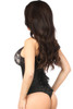 Shop for the best corset including this black steel boned underbust corset with satin material