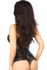 Shop the best corset at Discount Stripper.com featuring beautifully crafted black steel boned underbust corset with lace up cincher
