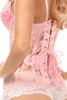 If you're looking at where to buy a corset, look no further than these pink mesh corset lingerie underbust with back cincher