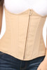 Shop this beige steel boned underbust corset with cotton lining and boning