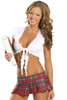 Shop women's sexy red plaid naughty school girl outfit.
