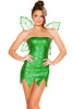 Shop women's 2 Piece Green Cutie Fairy costume. Includes Strapless Mini Dress & Fairy Wings
