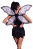 Shop this women's black tinkerbell costume featuring evil fairy wings with black fairy dress