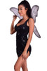 Shop this women's black tinkerbell costume featuring a black sequin dress with black fairy wings