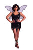Shop this women's black tinkerbell costume with black sequin mini dress and fairy wings