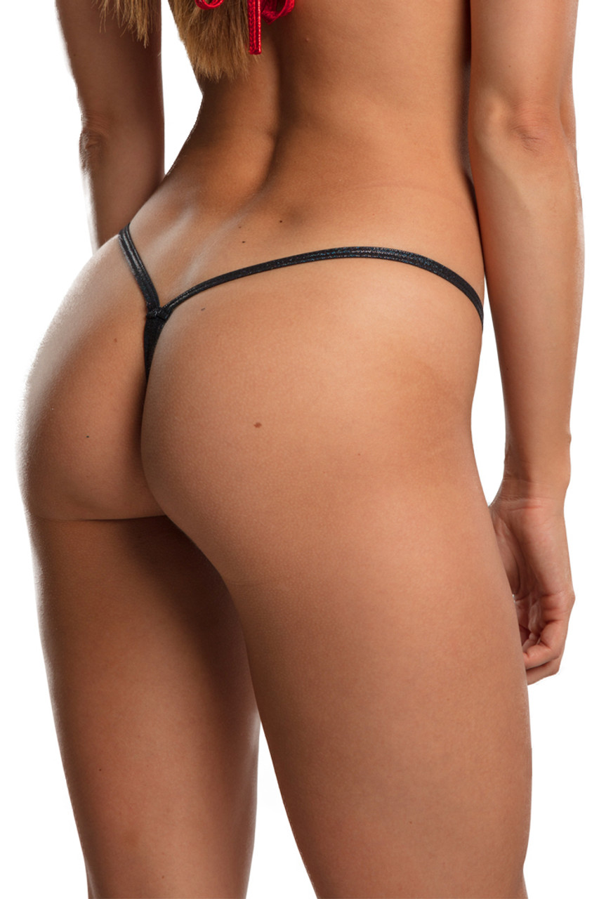 Shop these black twinkle v strap bikini bottoms with sparkle twinkle fabric