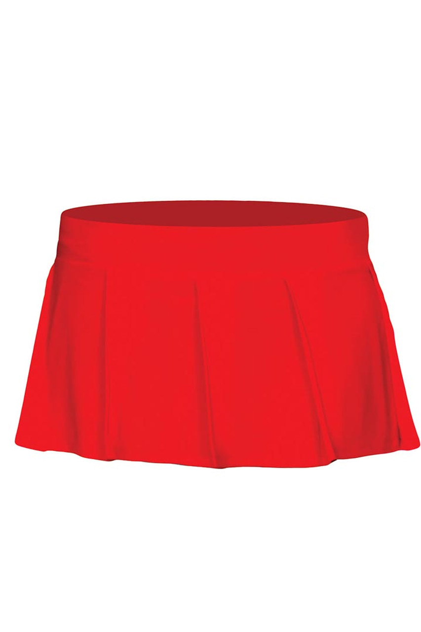 Shop this red pleated mini skirt for your naughty schoolgirl costume