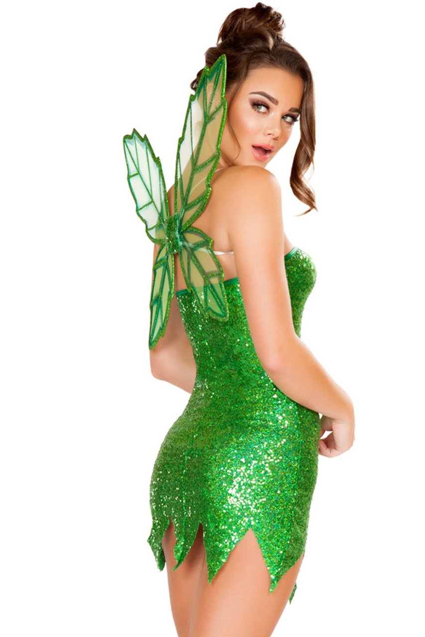 Shop women's sexy 2 Piece Green Cutie Fairy costume. Includes Strapless Mini Dress & Fairy Wings