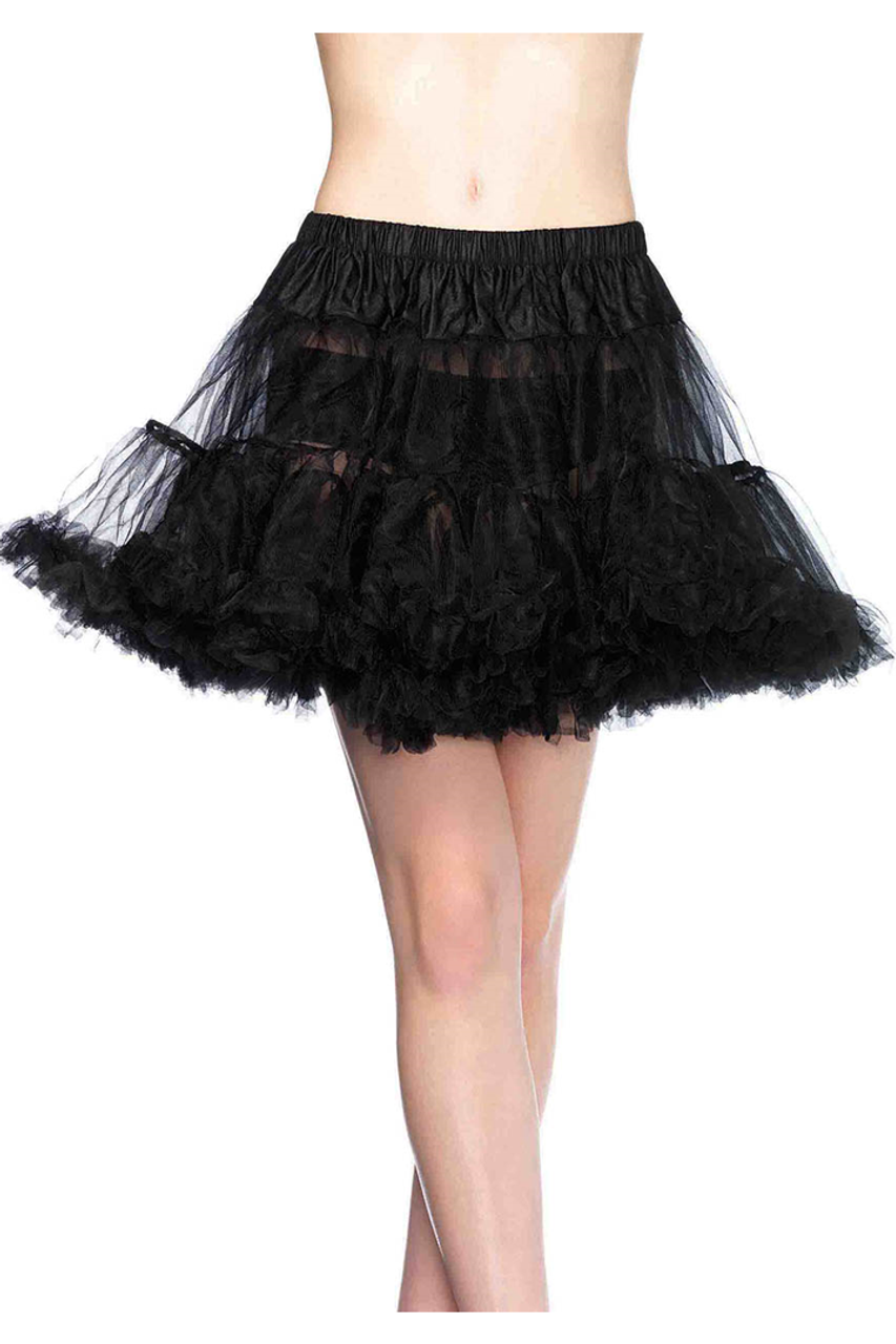 Shop this women's black petticoat with elastic waistband