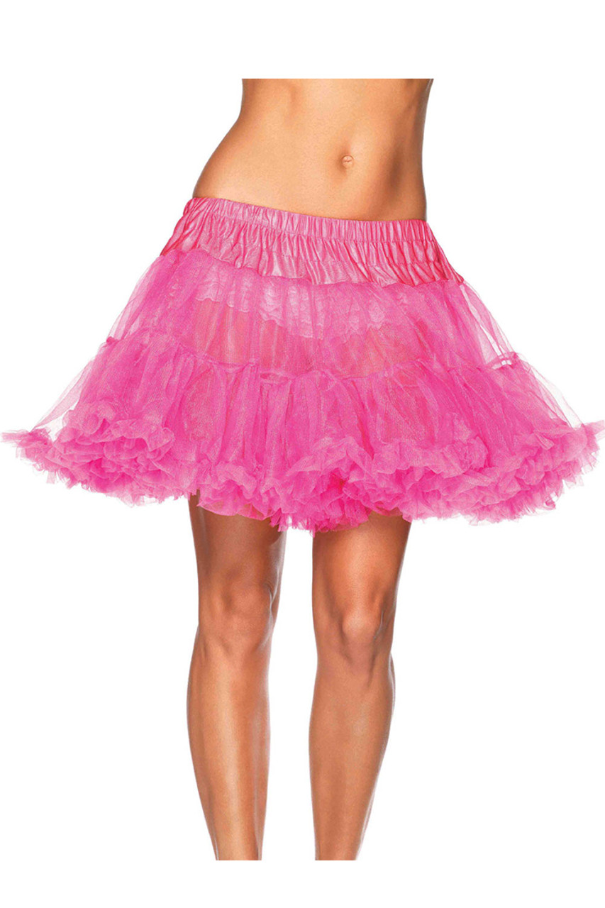 Shop this women's neon pink petticoat with elastic waistband