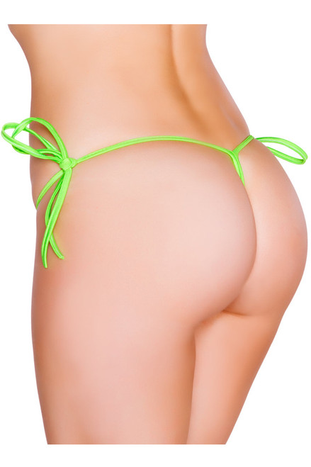 Shop this lime green sexy g string bikini bottoms