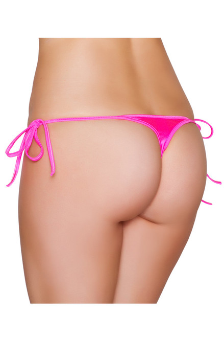 Shop this hot pink thong micro bikini with tie sides