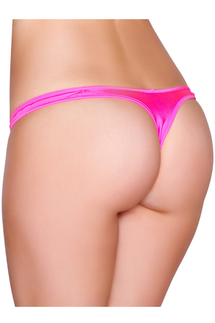 Shop this close up hot pink thong T back bikini
