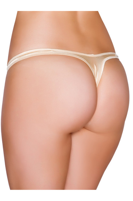 Shop this nude thong bikini with t back