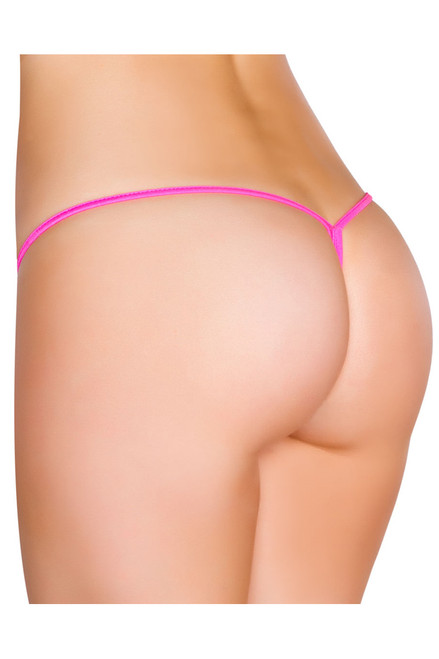 Shop this hot pink micro thong bikini with Y back thong swimwear