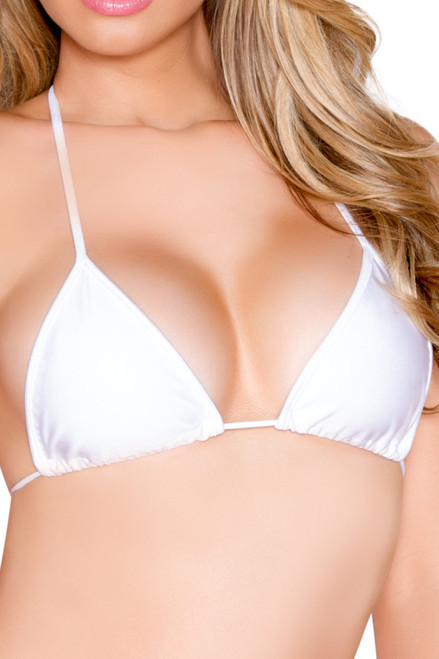 Shop this white  string bikinis for women featuring this micro triangle top