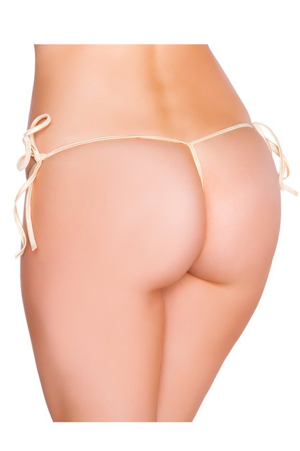 Shop this women's nude  g string bikini bottoms with tie sides and g string bikini back