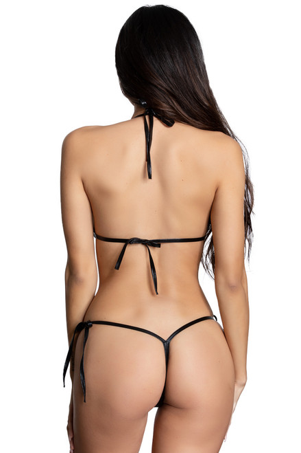 Shop this sexy thong bikini with black thong bikini and black trim