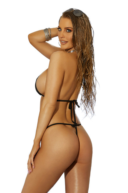 Shop this sexy g string bikini with metal o rings