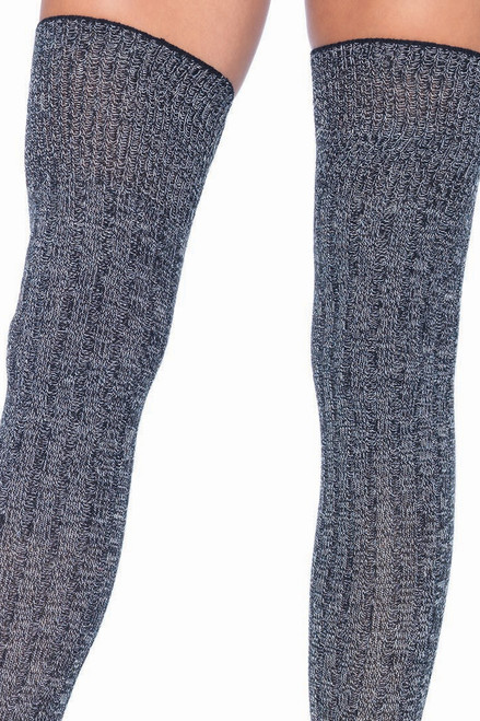 Shop these super comfy heather grey ribbed knit socks