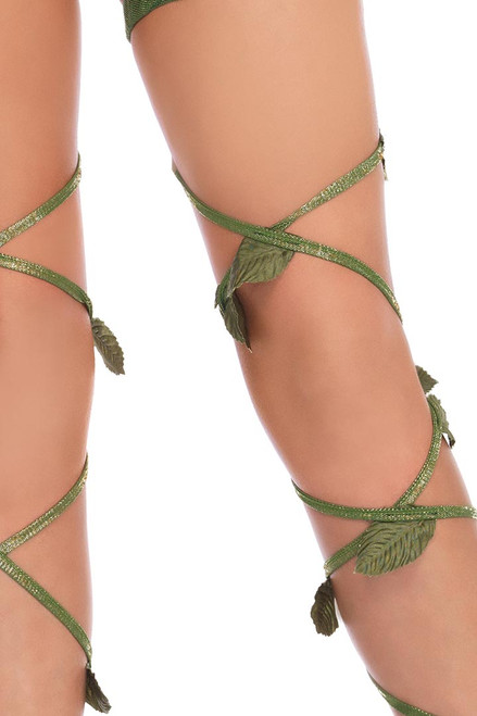 Shop these glitter leaves poison ivy leg wraps