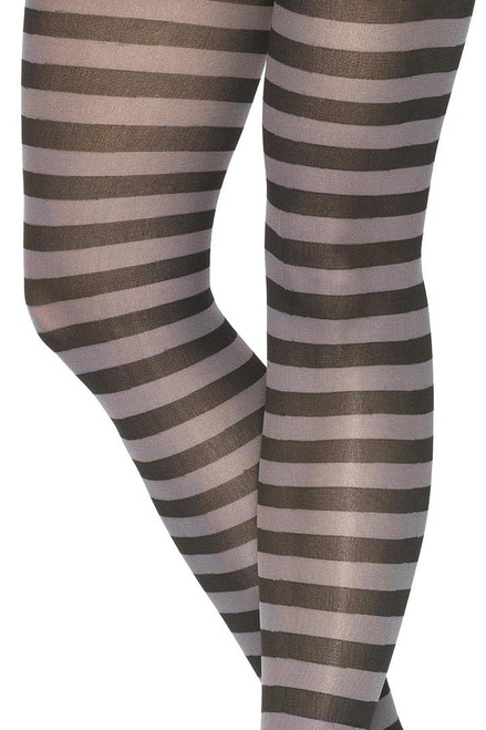 Shop these women's tights with black and grey stripes
